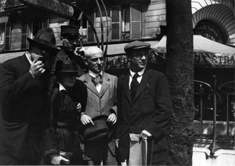 Jean Cocteau: Max Jacob, Manuel Ortiz de Zarate, Henri-Pierre Roché in Pablo Picasso